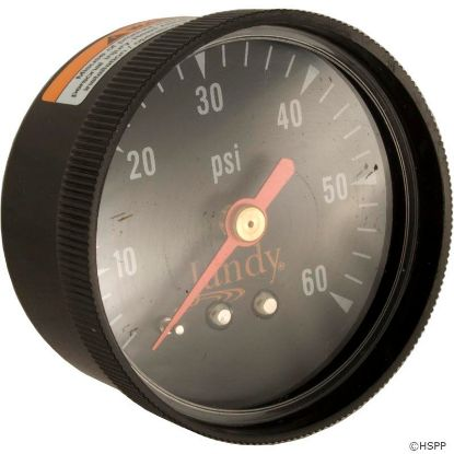 "Pressure Gauge, Zodiac Jandy, 1/4""mpt, 0-60psi, Back Mount"