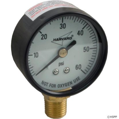 "Pressure Gauge, 1/4""mpt, 0-60psi, Bottom Mount, Generic"