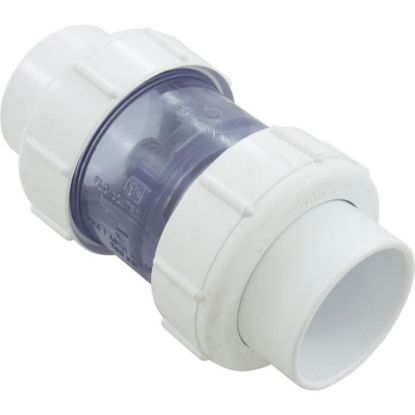 "1795C20 Check Valve 5Lb. 2"" Sxs Clear Pvc Union replaces 904066"