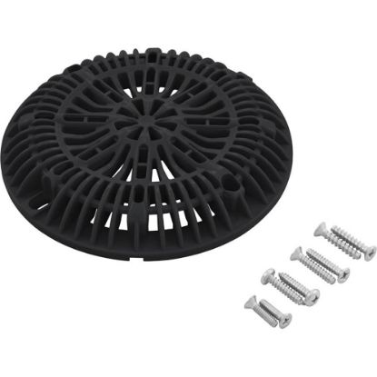 "25507-104-000 8"" Galaxy Drain Cover With Screw Pack, Black replaces 903735"