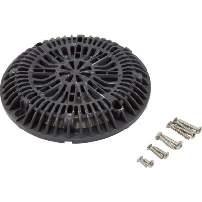 "25507-107-000 8"" Galaxy Drain Cover With Screw Pack, Dk Gray replaces 904334"