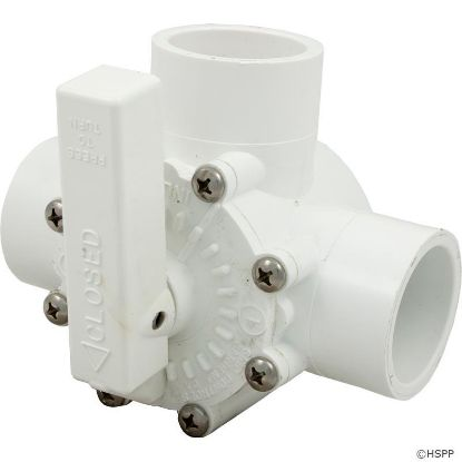 "Diverter Valve, Grid Controls, 1-1/2"" Slip/2"" Spigot, 3 Port"