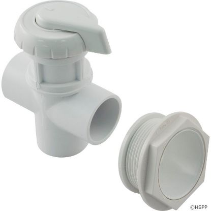 "Diverter Valve, Hydro-Air/BWG Hydroflow, 1""s, 3 Port, White"
