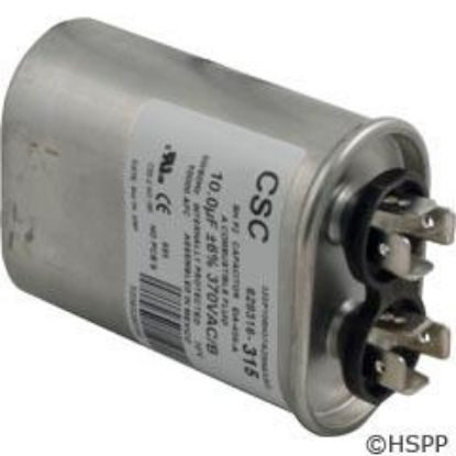 "Run Capacitor 10 MFD, 370v, 2"" x 3-1/8"" oval"