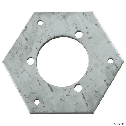"Adapter Plate, Vulcan Box, 1-1/4""ID, 2-1/2"" hex OD"