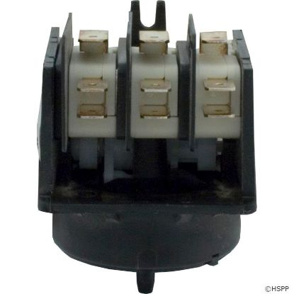 Air Switch, Herga, 4 Function, 3PDT, 20A, Ctr Spout, Wht Cam
