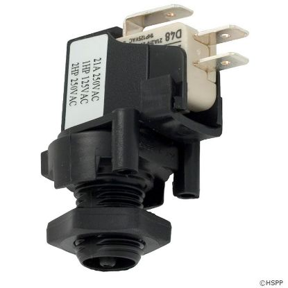 Air Switch, Herga, SPDT, 20A, thd, latch