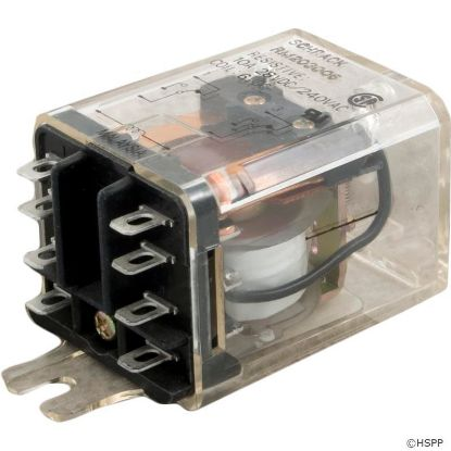Relay, Schrack, DPDT, 15A, 6vdc, Dustcover