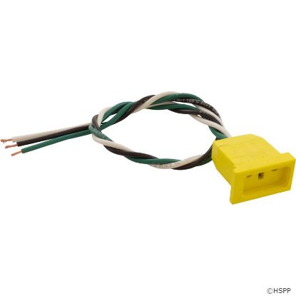 Receptacle, H-Q, Ozone, Molded, Yellow, 18/3