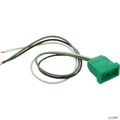 Receptacle, Hot Acc, H-Q, Molded, Green, 18/3