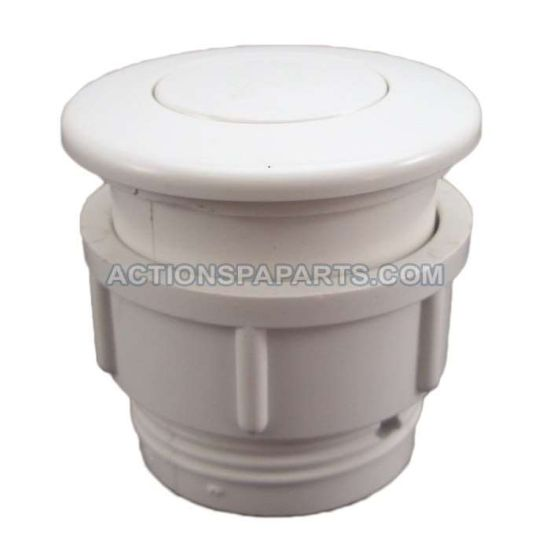 Air Button,Waterway, Flush Mount, White