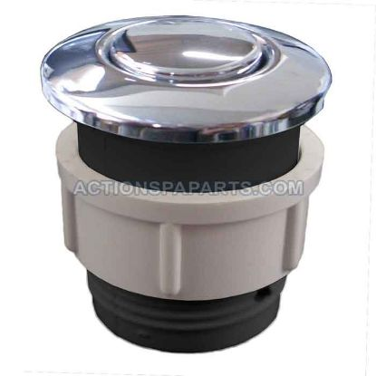 Air Button,Waterway, Flush Mount, Chrome