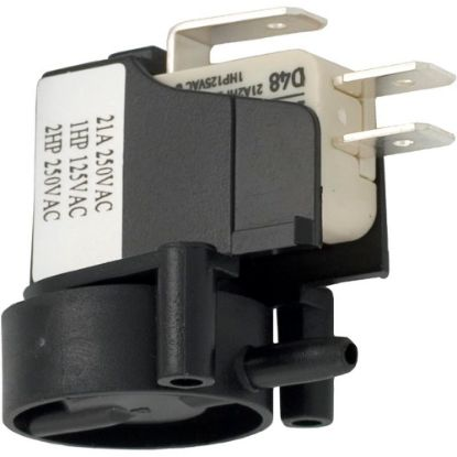 6871-AOO-U106 Air Switch, Herga, SPDT, 20A, Side Spout, latch replaces 609979, 610037, 6871-AOO-U126, 6871AOOU126, 9244-19A, 9248-04