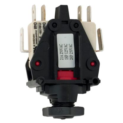 6872-AEO-U126 Air Switch, Herga, DPDT, 20A, thd, latch replaces 6872AEOU126, 9243-10
