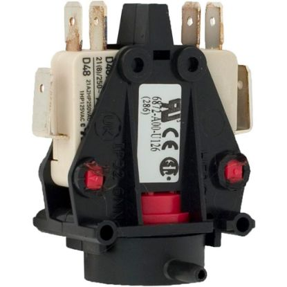 6872-AOO-U106 Air Switch, Herga, DPDT, 20A, Side Spout, latch replaces 609893, 6872-AOO-U126, 6872AOOU126, 9248-03
