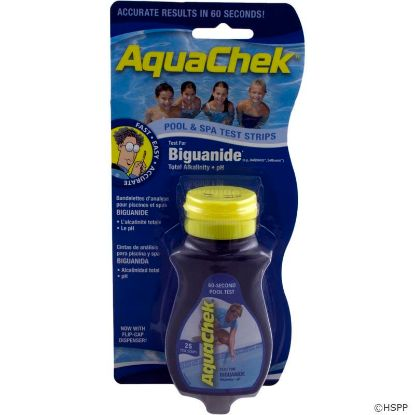 Test Strips, AquaChek Blue, 3-in-1, Biguanide, 25 ct