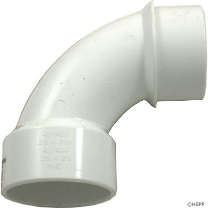 "90 Elbow, Sweep, Waterway, 2"" Slip x 2"" Spigot"