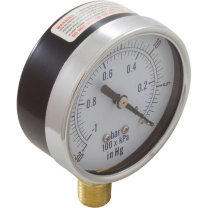 "99301499 Vacuum Gauge, 1/4"" Bottom Connection NPT 0-30HG 2-1/2"" Face replaces 4731-0, 615066, SPG-06-1008, SPG-06-1009"