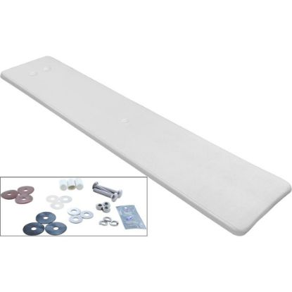 DS8WW Dive Board, Inter-Fab Duro-Spring, 8ft, White w/Top Tread, Hdwr replaces 304456, 66-209-588S2