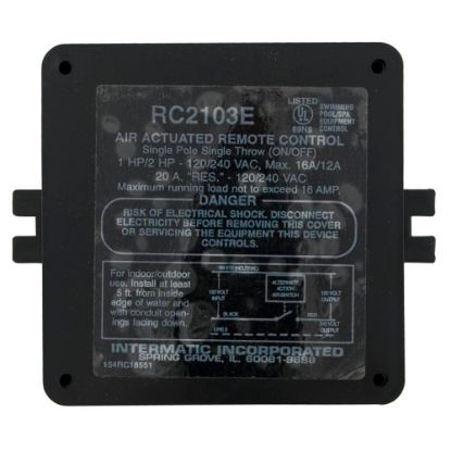 RC2103E Air Control Box, Intermatic, 115v/230v, One Circuit, On/Off replaces 782750037368, RC2000