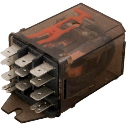 RM705-615 Relay, Schrack, 3PDT, 15A, 115v, 1/4, Dustcover replaces 610072, 9170-21E, RM705-615