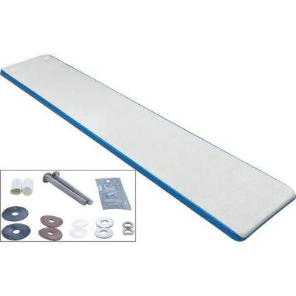 TB8BW Dive Board, Inter-Fab Techni-Beam, 8ft, Blue w/Top Tread, Hdwr replaces 306119, 66-209-598S3