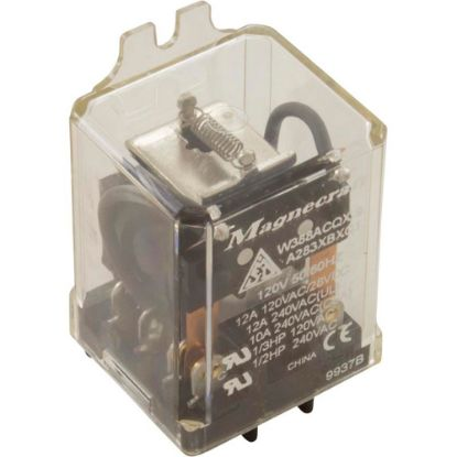 W388ACQX-9 Relay, Magnecraft, 115VAC, 12A, DPDT, Flange Mount replaces 9137-08A